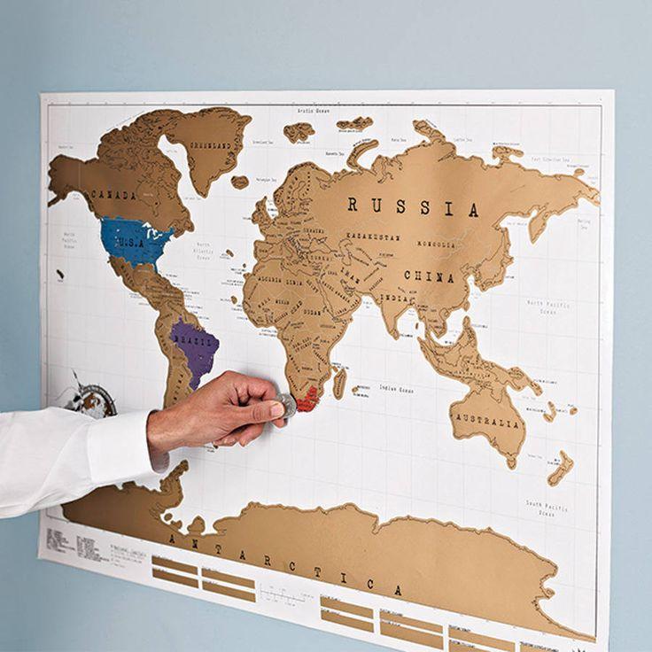 Scratch Off World Map Poster from notonthehighstreet.com