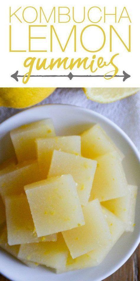 Nourishing and full of probiotics, these Kombucha Lemon Gummies are the perfect healthy treat. | RaiasRecipes.com
