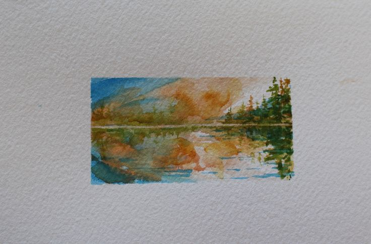 "1.5"" x 3"" Matted, including shipping/ Miniature Watercolour"