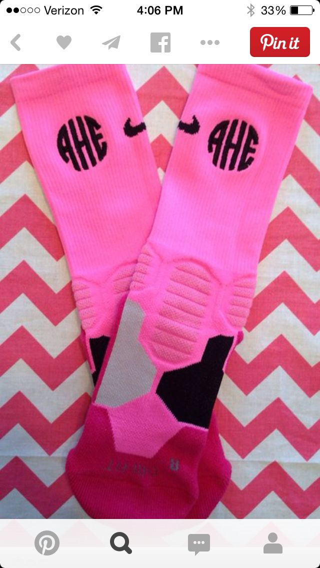 Monogramed Nike socks. I'm NOT into the tall socks phase, but I could totally so this with my calf sleeves for running!!