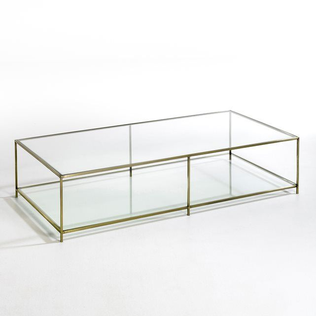Sybil Oblong Tempered Glass Coffee Table AM.PM. : price, reviews and rating, delivery. Metal frame with an aged brass finish2 tempered glass…