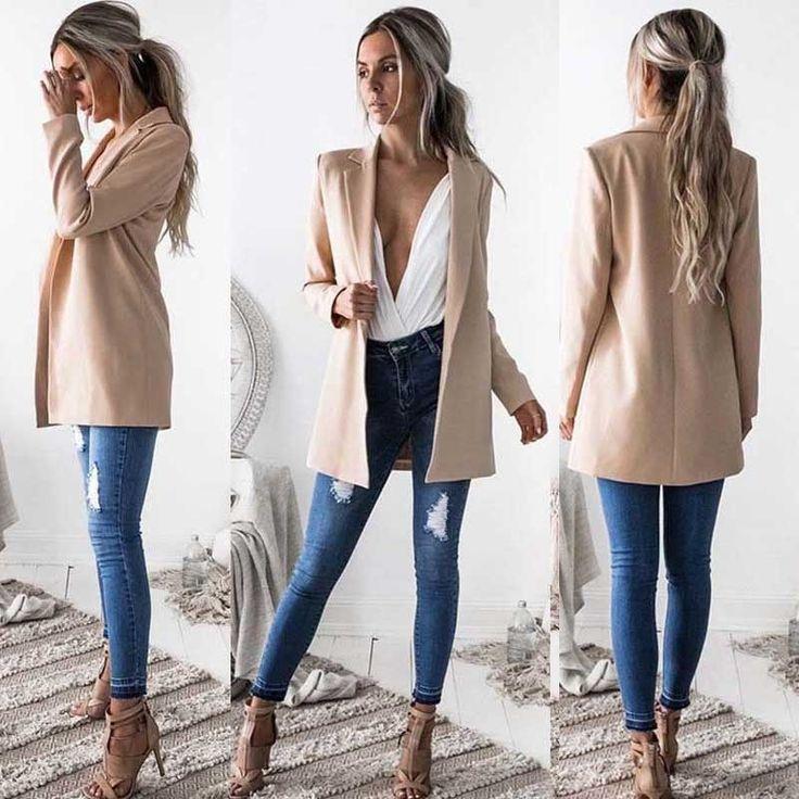 $ - Cool New Fashion Women Ladies Suit Coat Business Blazer Long Sleeve Outwears... 3