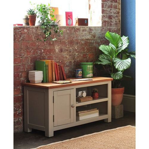 "Lundy Stone Grey Small TV Unit - Up to 43"" (J490) with Free Delivery 
