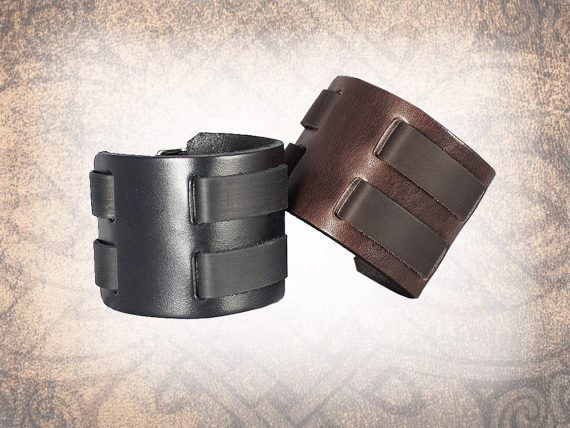 Uni manchette en cuir bracelet en cuir brun bracelet