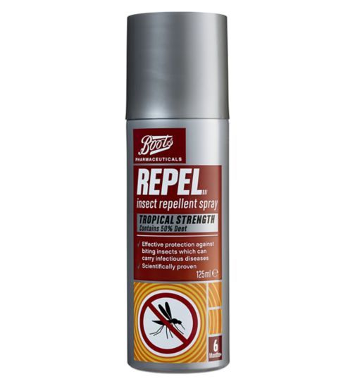 Boots Repel Insect Repellent Spray Tropical Strength 50pc Deet - Boots