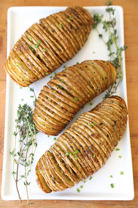 Top 10 Thanksgiving Side Dishes:: accordion potato recipe