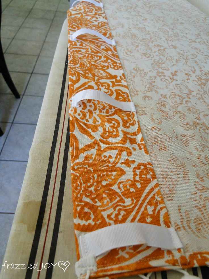 Hidden Tab Top Curtains -- use wider ribbon and starch for sheer panels