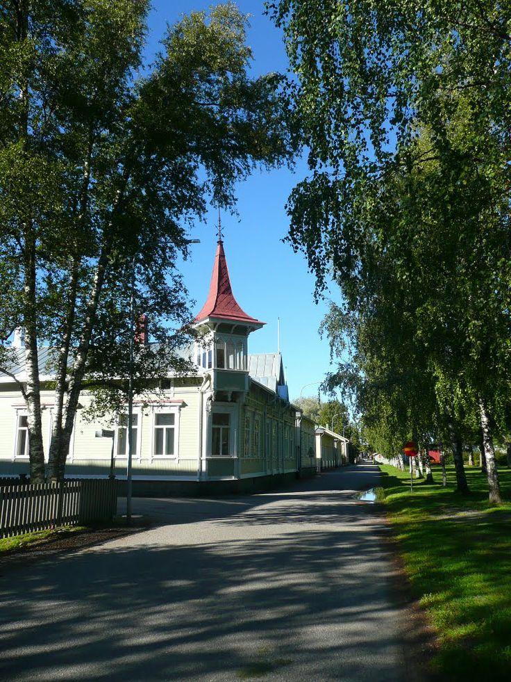 Rantakatu Kristiinankaupunki - Ostrobothnia province of Western Finland. - Pohjanmaa. photo Sirka