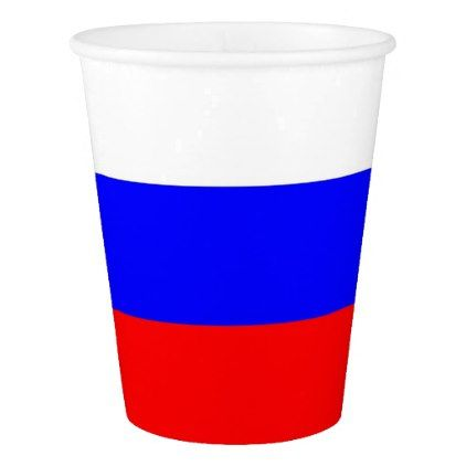 Patriotic paper cup with flag of Russia - elegant gifts gift ideas custom presents