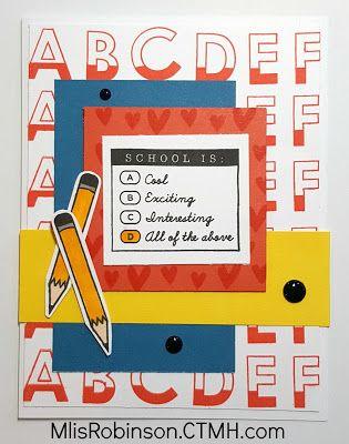 Heartfelt Sentiments: Stamp of the Month Blog Hop: School Year
