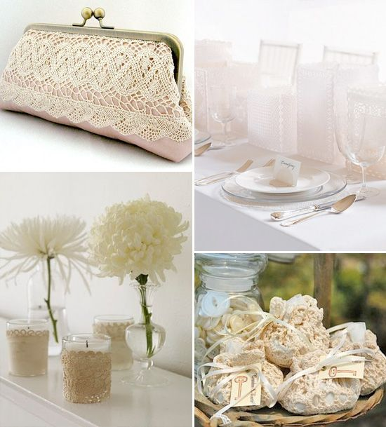Lace Doilies and Weddings : a growingtrend - Brenda's Wedding Blog - stylish real weddings - wedding inspiration boards - unique accents for weddings