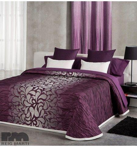 Les 25 meilleures id es de la cat gorie couvre lit sur pinterest couvre lit - Couvre lit aubergine ...