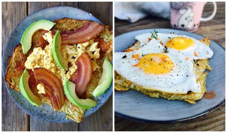 Lækker, sund og nem morgenmad. Brug rodfrugt-røstien under dine morgenmad. Se de lækre forslag her: