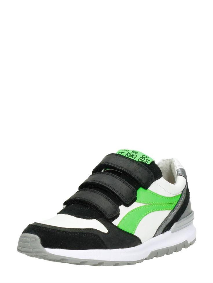 Keq jongens schoenen met klittenband - groen
