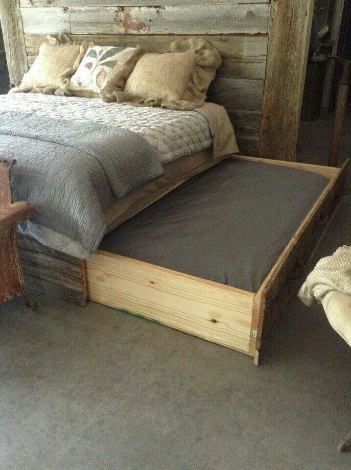 King Size Bed With A Pull Out Doggy In 2019 Diy Dog