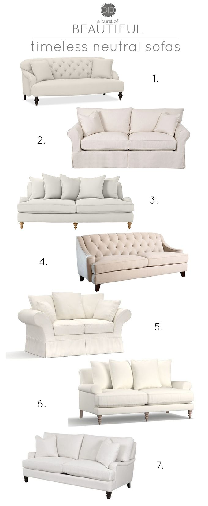 Timeless neutral sofas are the perfect compliment to modern farmhouse style