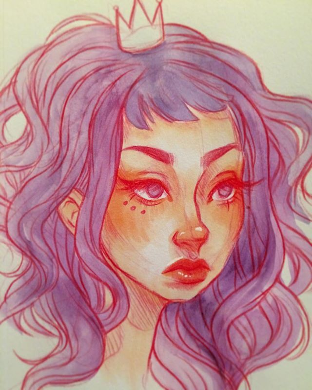 I colored this sketch from the other day  #sketch #illustration #artistsoninstagram #sketchbook