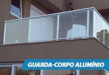 Resultado de imagem para guarda corpo de vidro com aluminio branco