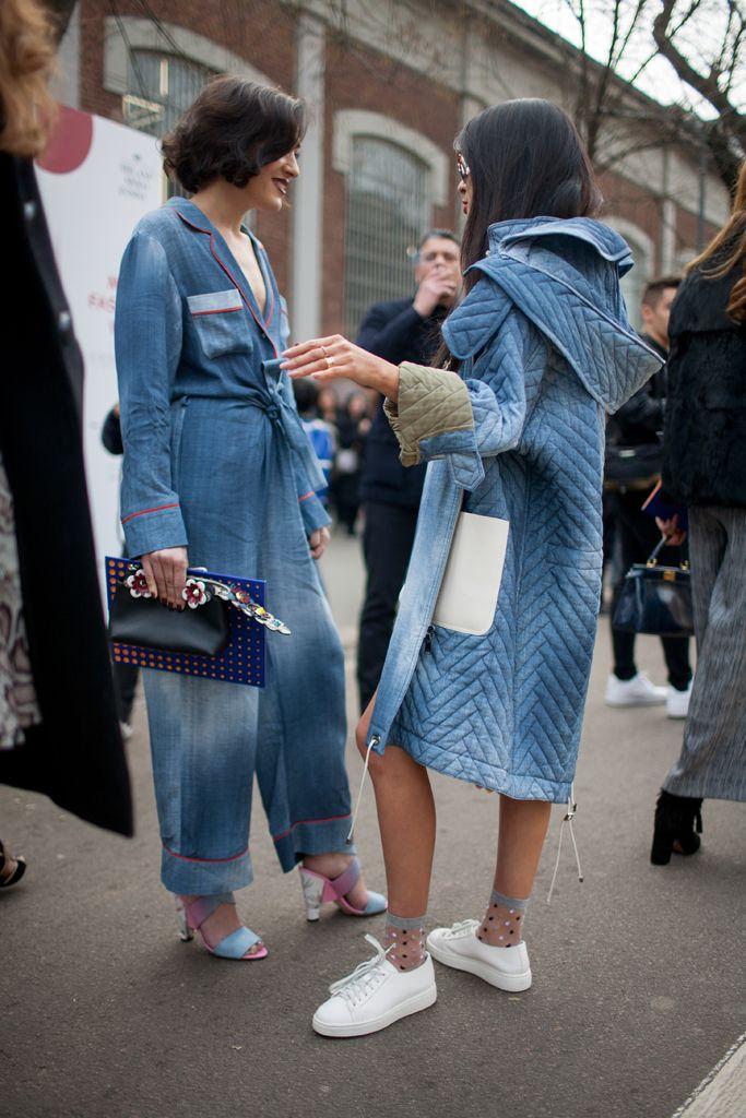 Milan Fashion Week street style | Follow @FILET. for more street style…
