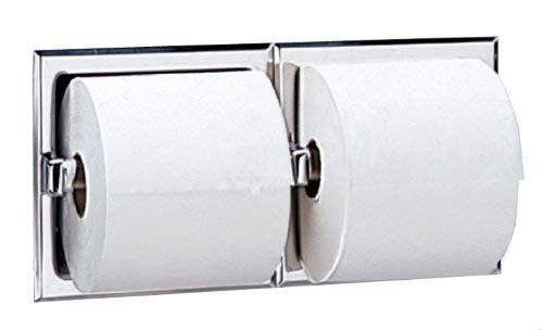 Bobrick 6977 Stainless Steel Recessed Dual Roll Toilet Tissue Dispenser Satin Finish 12 5 16 Width X 6 1 8 Height Review