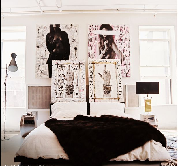 Faux fur throws add instant chic to a room