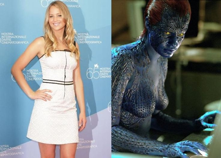 X Men First Class Jennifer Lawrence Full Body