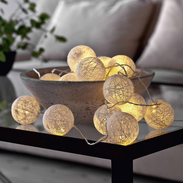 1000 ideas about ball lights on pinterest ball decorations string lights and wedding string - Cotton ballspractical ideas ...