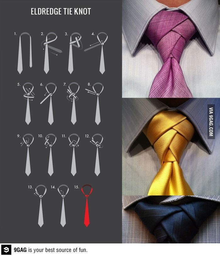 eldredge tie knot. pretty + you tie the skinny part of the tie so you KNOW in advance how long the front part will be.