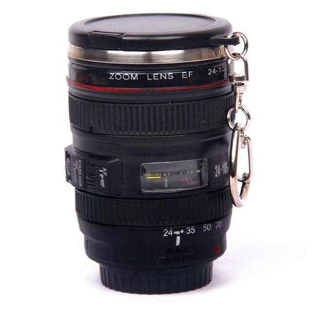 5.5*3.0*7.5 cm Aço Inoxidável caniam SLR Camera EF24-105mm Lens Caneca Coffee cup 1:1 escala xícara de café atacado