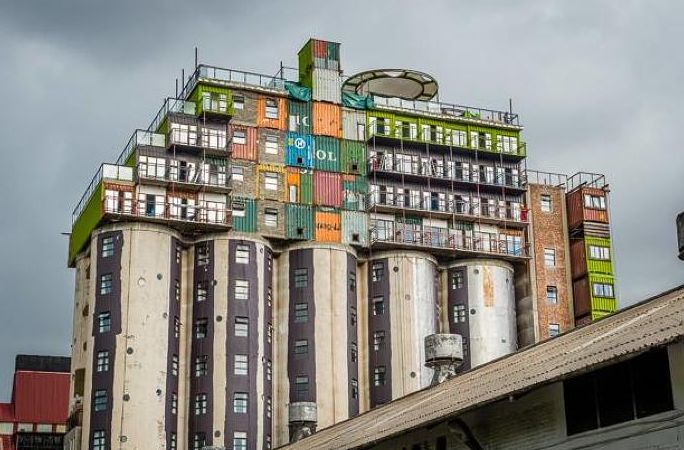 These Crazy South African Dorms Are Made From Shipping Containers And Old Silos