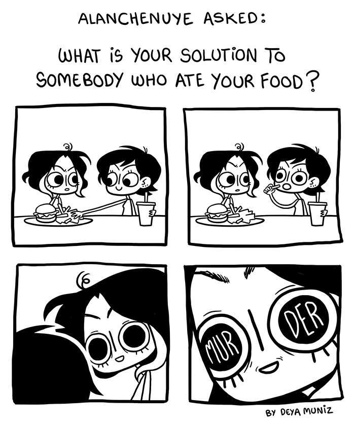 Brutally Honest :: Deya doesn't share food | Tapastic Comics - image 1