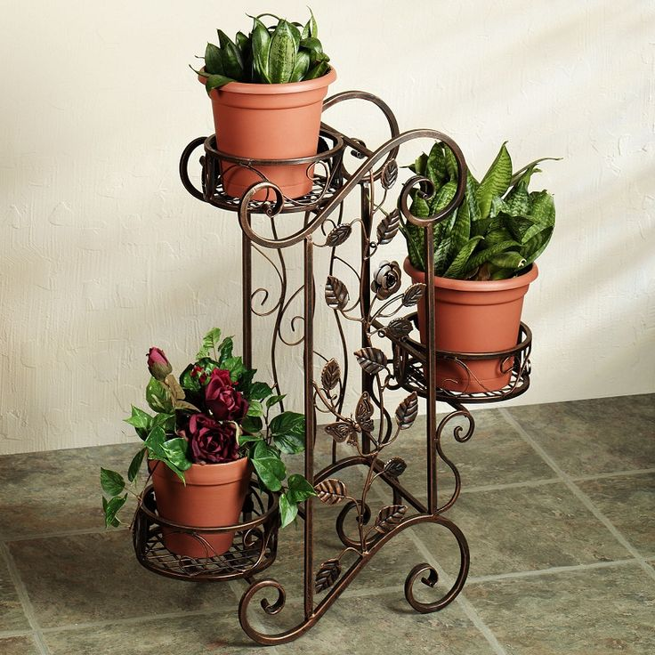 Outdoor Plant Stands Presenting Greenery Outdoor Spot