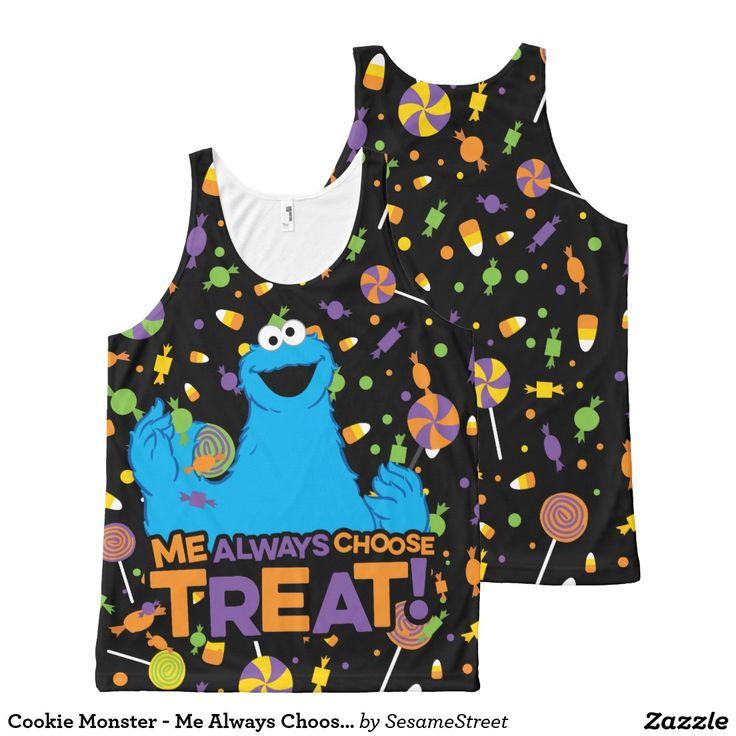 Cookie Monster - Me Always Choose Treat. Producto disponible en tienda Zazzle. Vestuario, moda. Product available in Zazzle store. Fashion wardrobe. Regalos, Gifts. #camiseta #tshirt