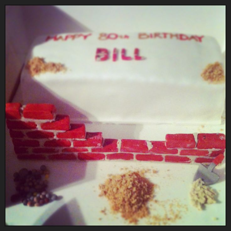 Bricklaying birthday cake