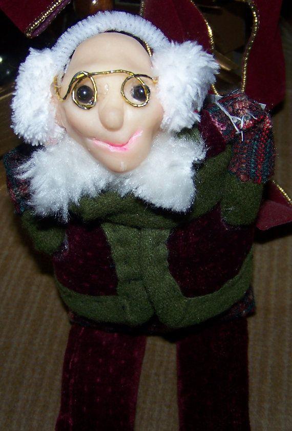 Old Man Elf ShelfSitter by CandysDecor on Etsy, $75.00