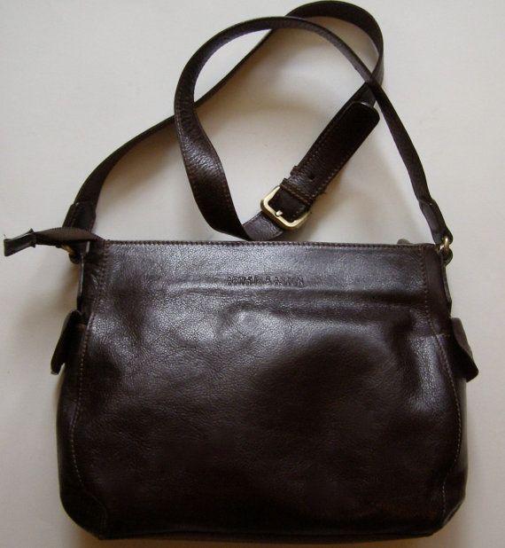 Sac besace en cuir marron 90s  ARTHUR & ASTON  bag - vintage bag - bag vintage - leather bag - satched