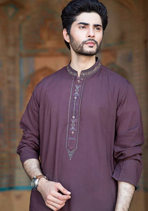 Amir Adnan Latest Men's Wear Eid Kurta Collection 2015
