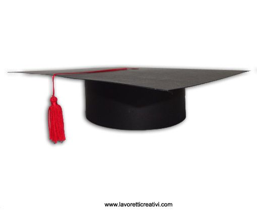 COME REALIZZARE UN CAPPELLO DI LAUREA Tocco di laureacon cartoncino Questa idea piace molto alle insegnanti per festeggiare il passaggio dalla scuola mate