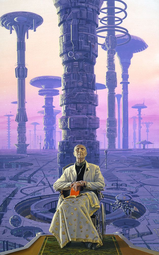 HARI (1985) - The Foundation Series by Isaac Asimov was beautiful matched by amazing layered of art from Micheal Whelan. #mustsee