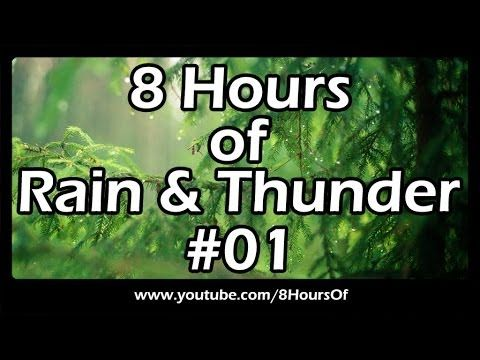 8 Hours of long relaxing rain and thunder sounds for sleep, meditation, yoga and relaxation.    Please like, subscribe and comment if you enjoyed this video. It will really help me out a lot. :)    http://www.youtube.com/subscription_center?add_user=8hoursof