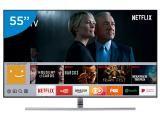 "Smart TV QLED 55"" Samsung 4K/Ultra HD Q7F - Conversor Digital Wi-Fi 4 HDMI 3 USB + Suporte"