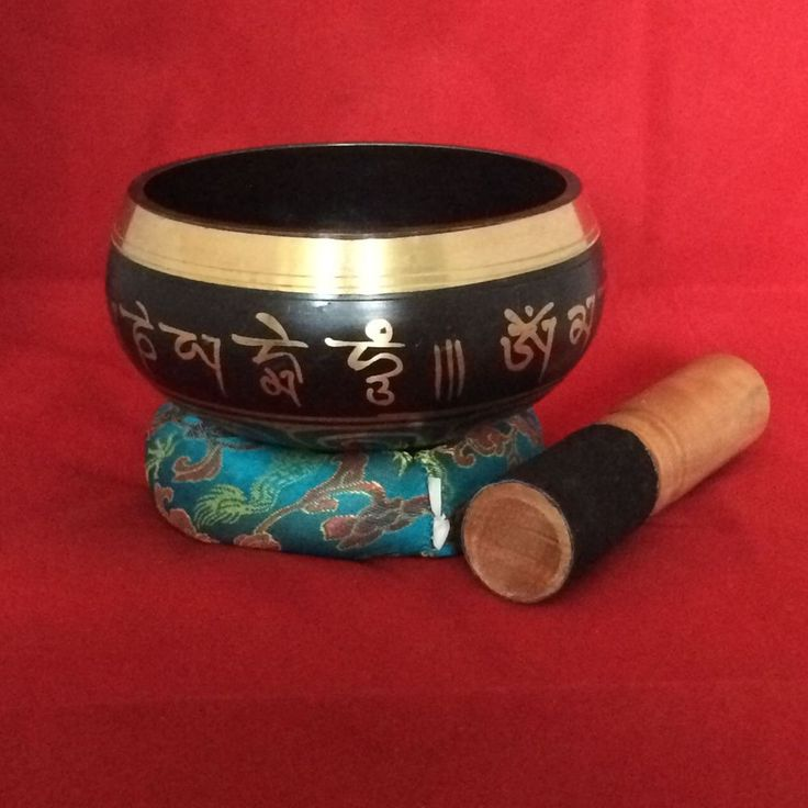 SOLD!!! Buddhist Mantra and Auspicious Sign Meditation Singing Bowl - Black - 002