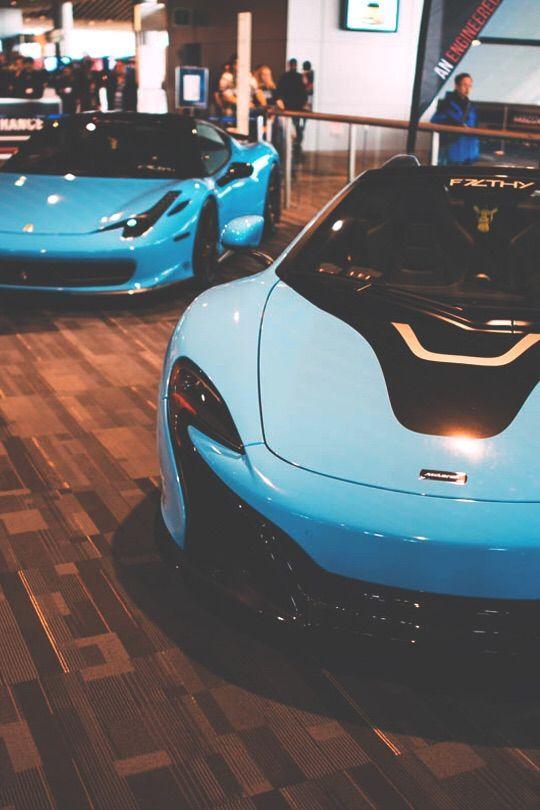 Baby Blue McLaren and Ferrari -Auto skup DARCAR skupuje luksusowe samochody http://www.autodarcar.pl   