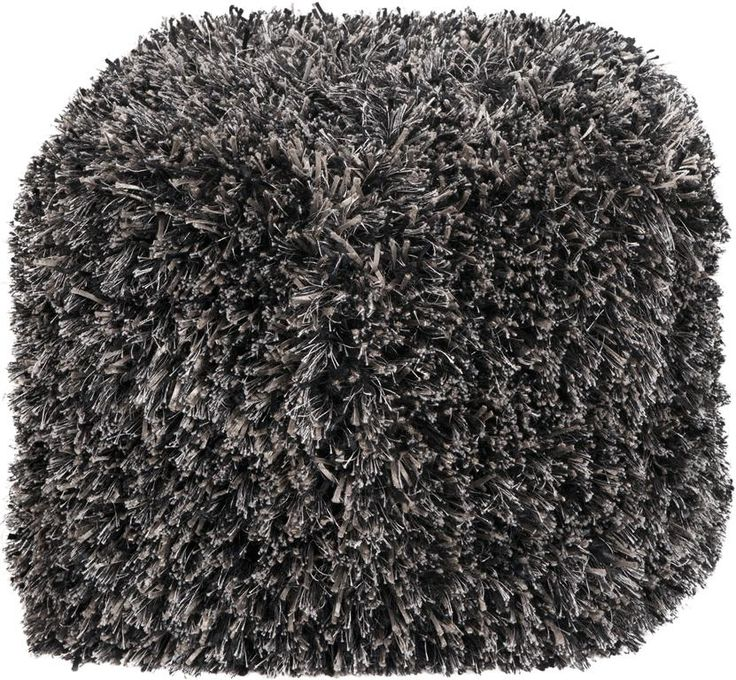 Cube Pouf The Shag Brings Style And Fun To Your Room Colors Of Coal Black Oatmeal White Sand Caviar Jet Accent This