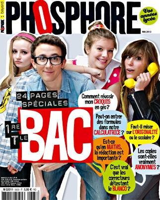 Phosphore, vos années lycée. Mai 2013. 24 pages spécial #Bac #Baccalaureat et une enquête sur la folie #Vintage