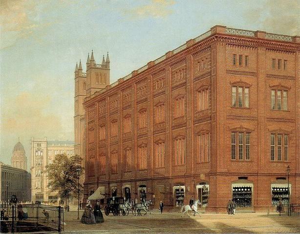 Berliner Bauakademie, Ölbild, 1868, German Painter Eduard Gaertner (1801-1877) ~ Blog of an Art Admirer