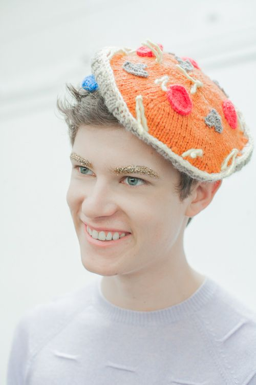 Knitted Pizza Hat