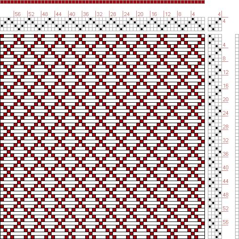Hand Weaving Draft: Page 46, Figure 3, Donat, Franz Large Book of Textile Patterns, 4S, 4T - Handweaving.net Hand Weaving and Draft Archive