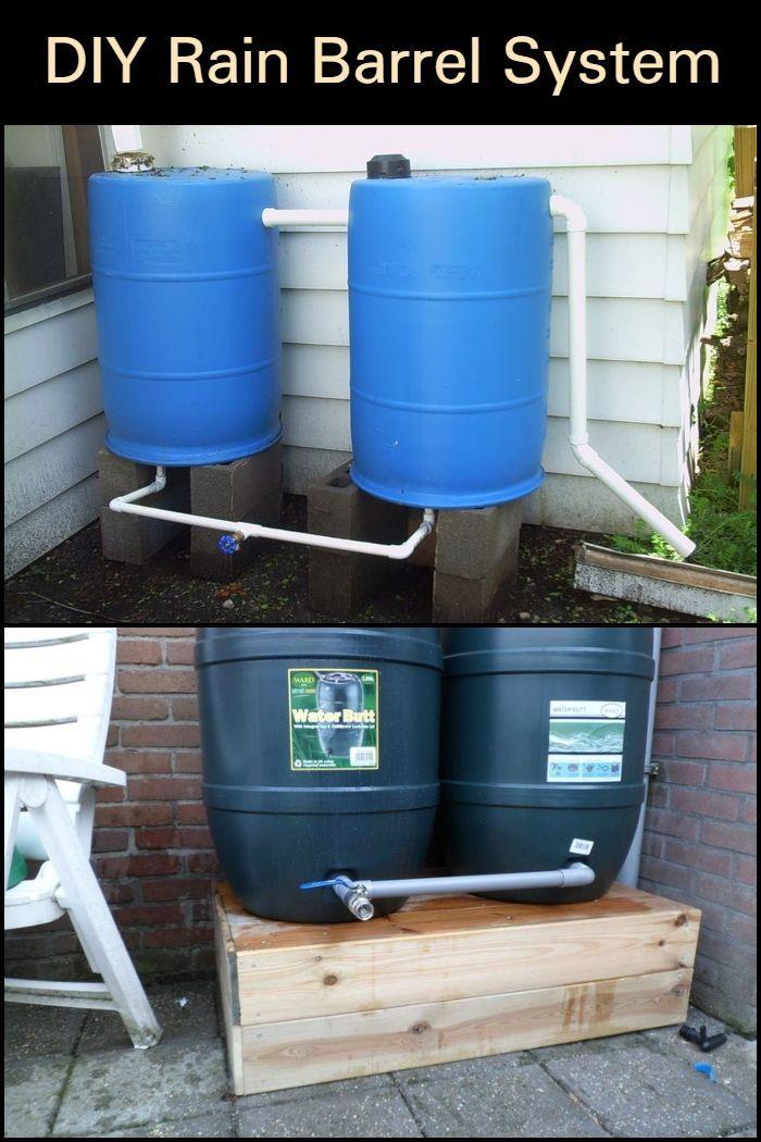 Easy To Build Rain Barrel System Rain Barrel System Rain Barrel Rain Barrels Diy