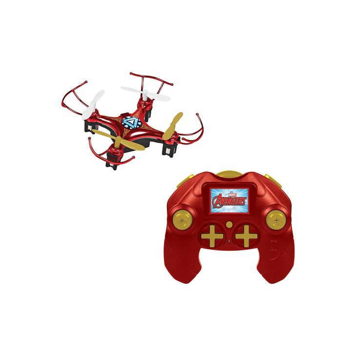 Marvel Avengers Iron Man 4.5CH 2.4GHz RC Quadcopter Micro Drone by World Tech Toys, Multicolor